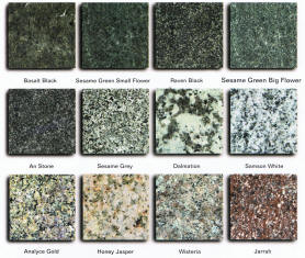Granite Colours - Click to enlarge